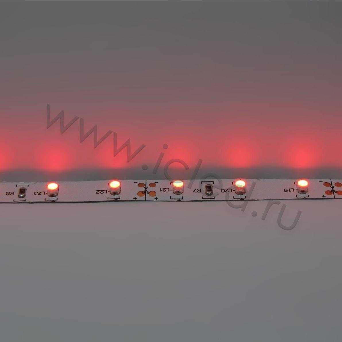 Светодиодная лента Class B, 3528, 60 led/m, Red, 12V, IP33