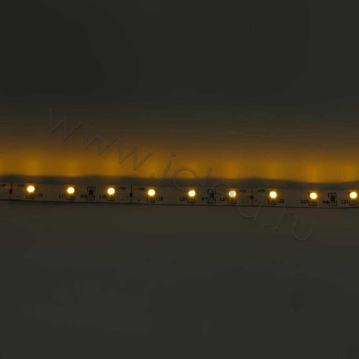 Светодиодная лента Class B, 3528, 60 led/m, Yellow, 12V, IP33