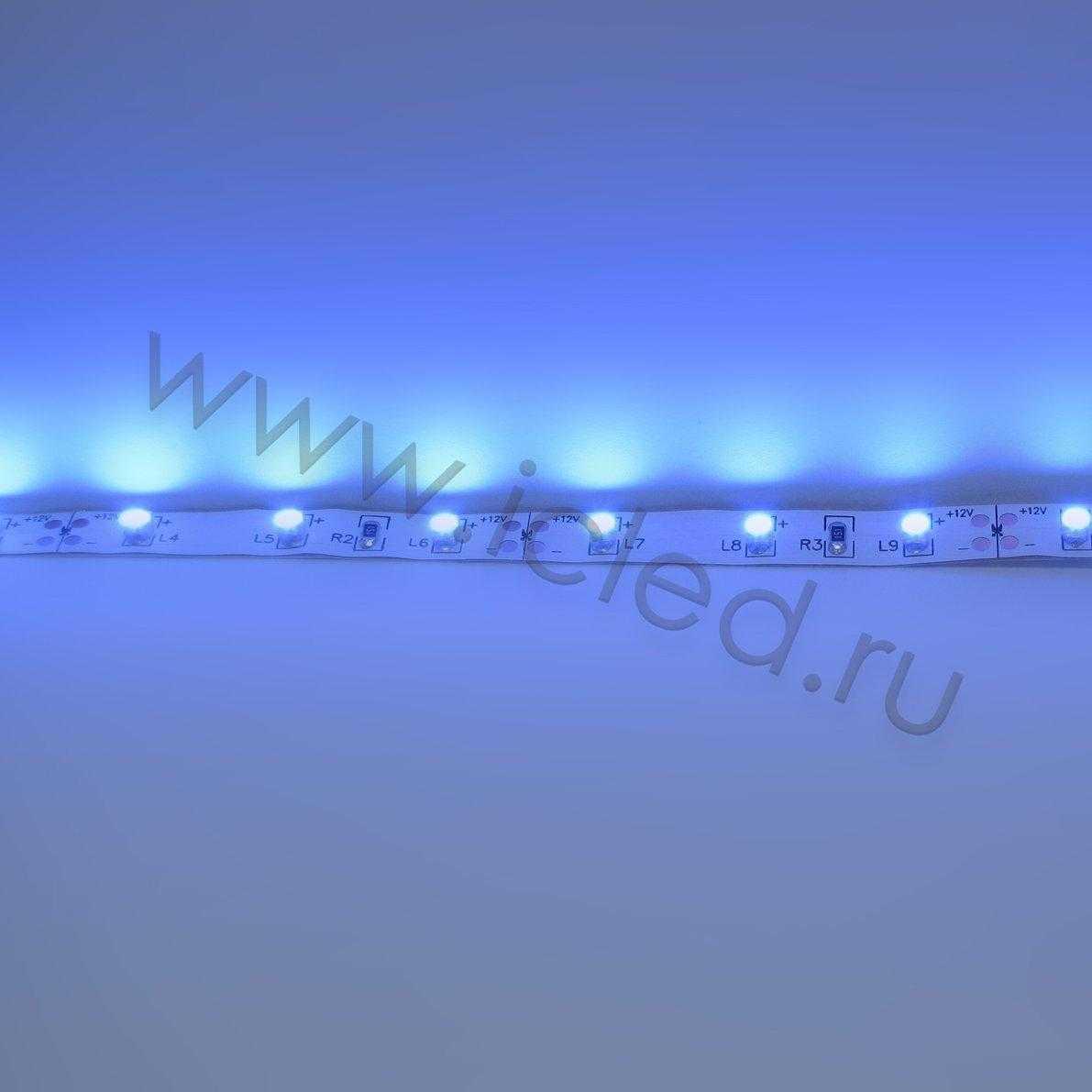 Светодиодная лента Class B, 3528, 60 led/m, Blue, 12V, IP33