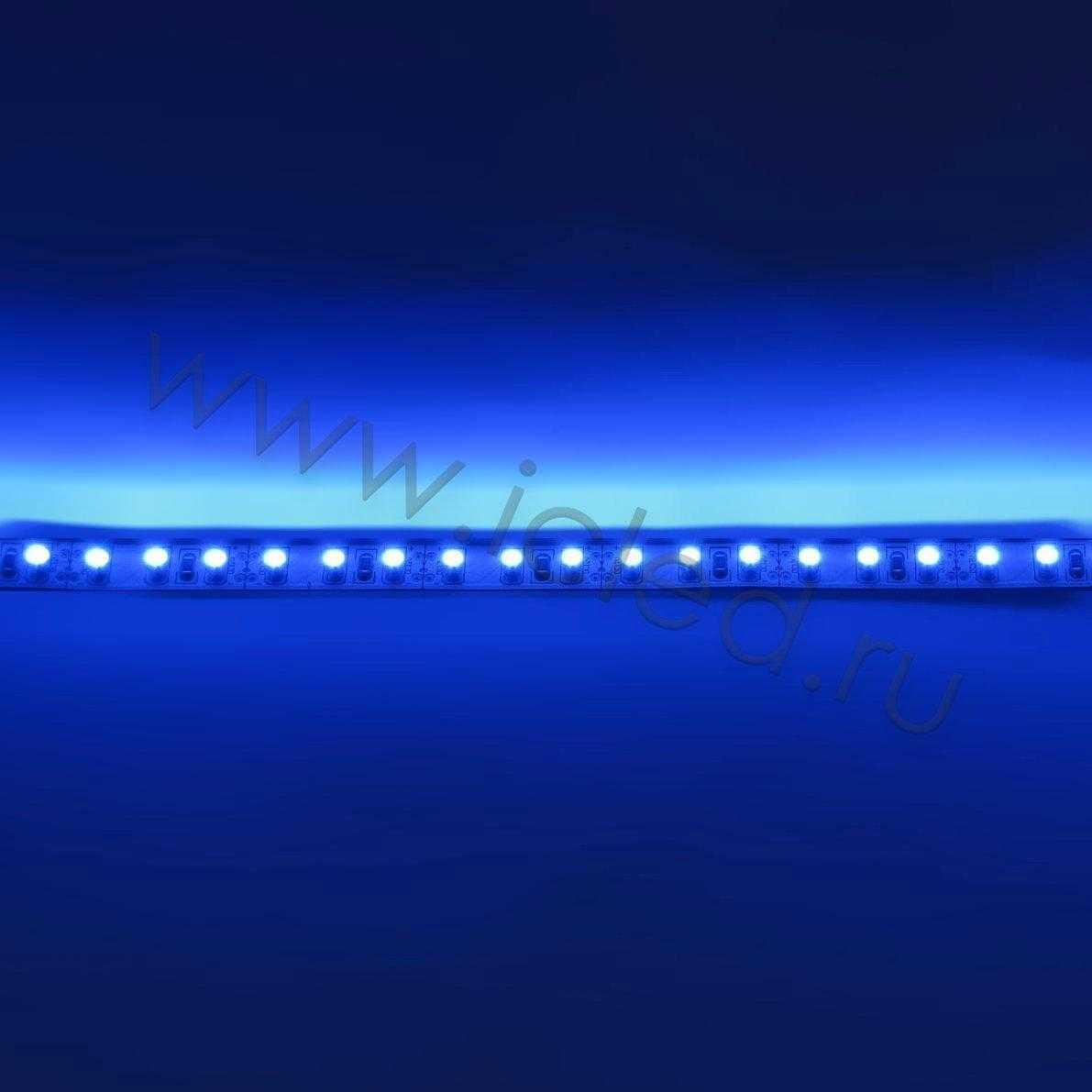 Светодиодная лента Class B, 3528, 120 led/m, Blue, 12V, IP33