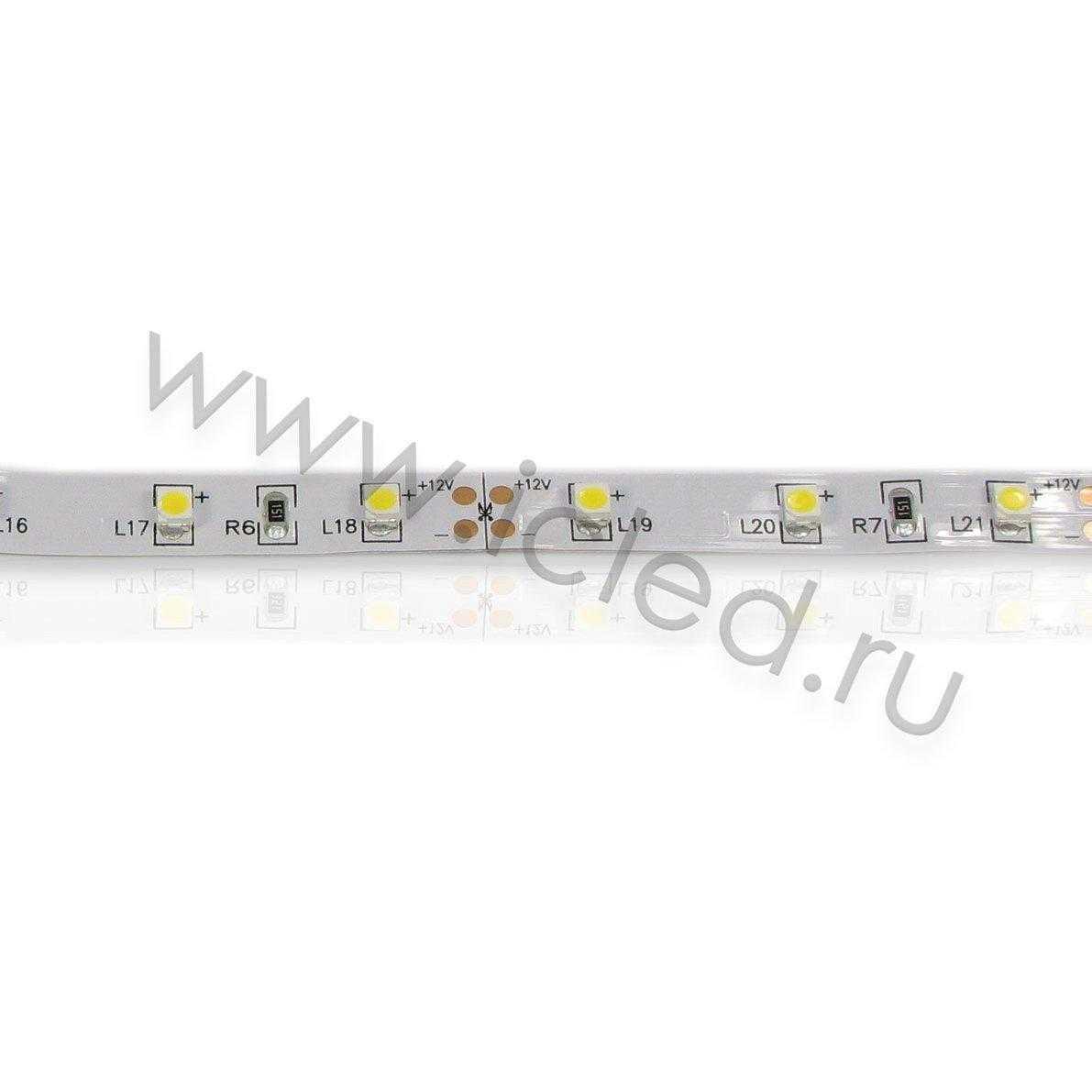 Светодиодная лента Class B, 3528, 60 led/m, Warm White, 12V, IP33