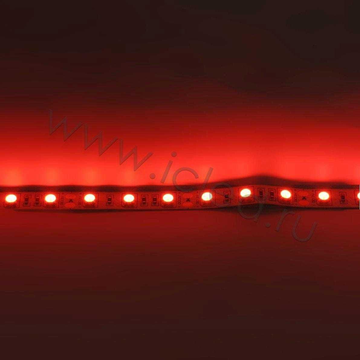 Светодиодная лента Class B, 5050, 60led/m, Red, 12V, IP33