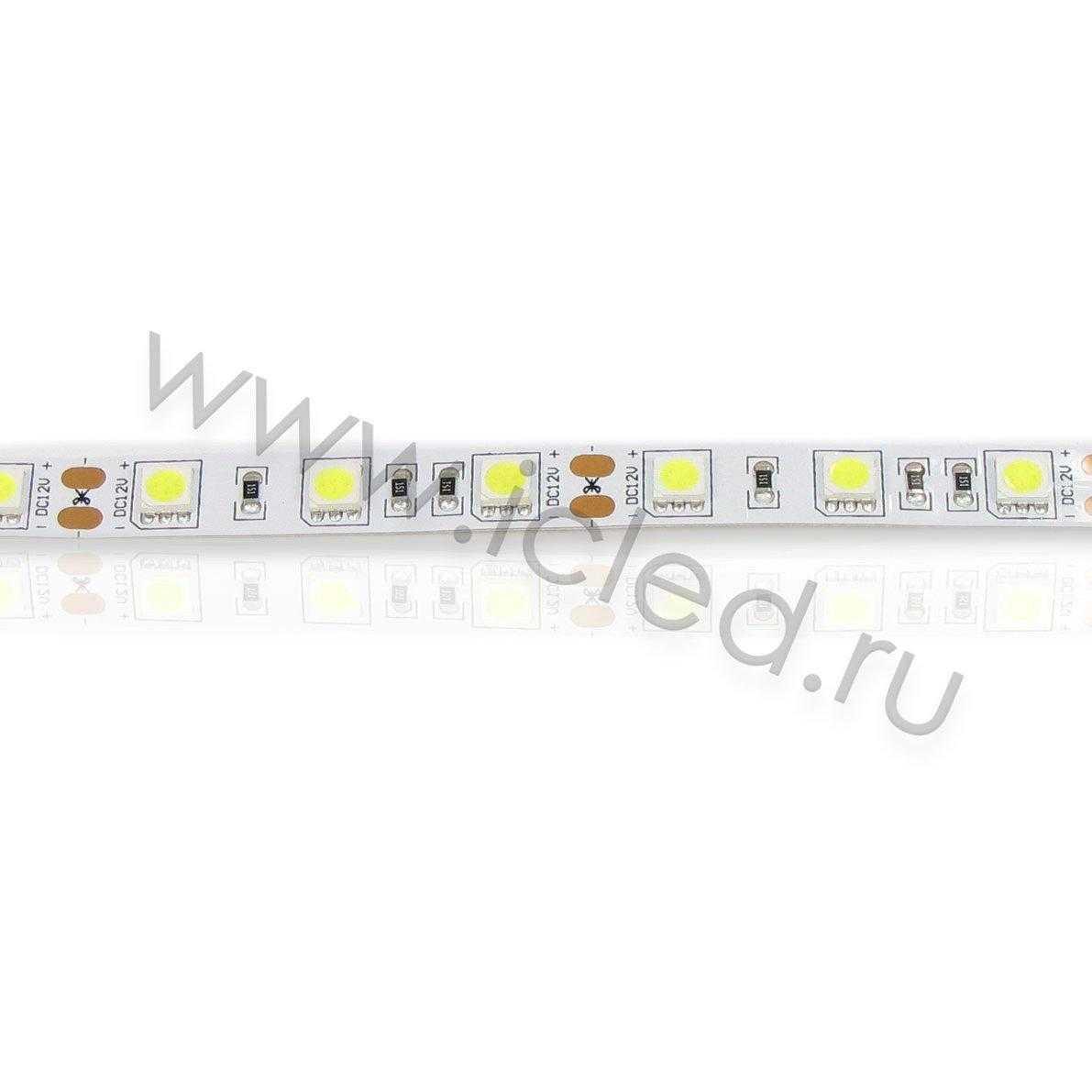 Светодиодная лента Class B, 5050, 60led/m, White, 12V, IP33