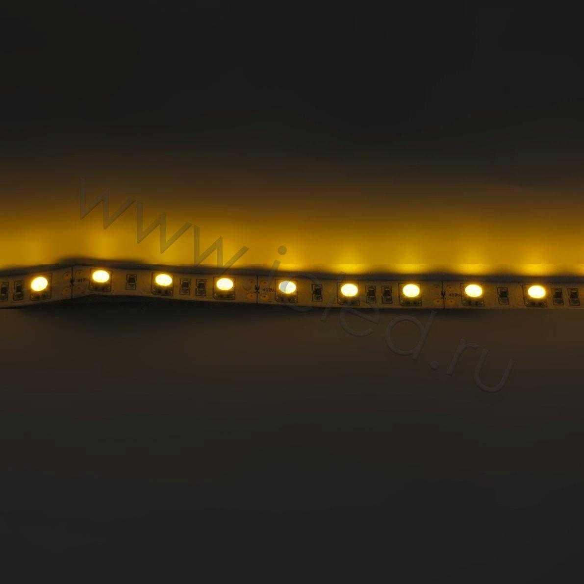 Светодиодная лента Class B, 5050, 60led/m, Yellow, 12V, IP33