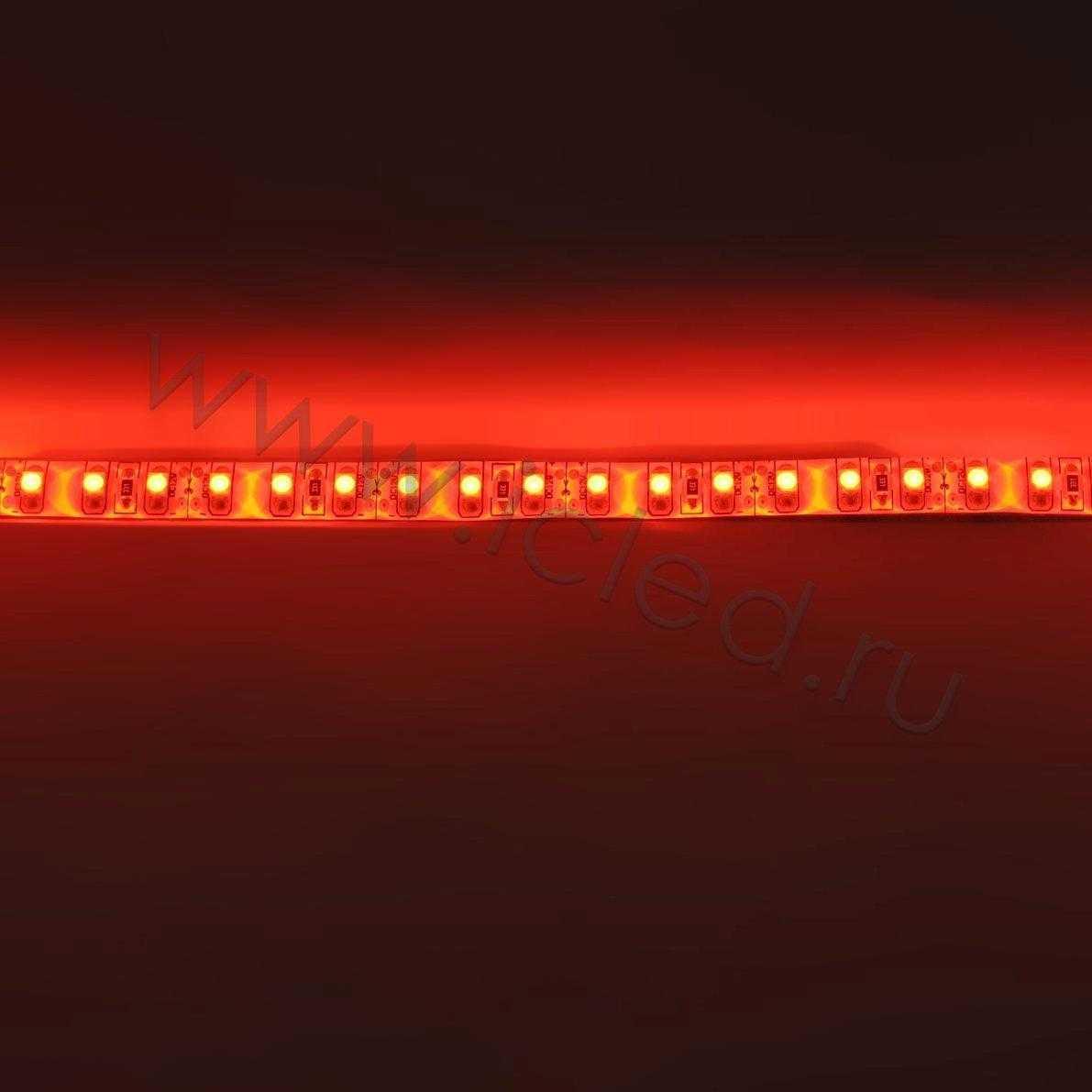 Светодиодная лента Class B, 3528, 120 led/m, Red, 12V, IP65