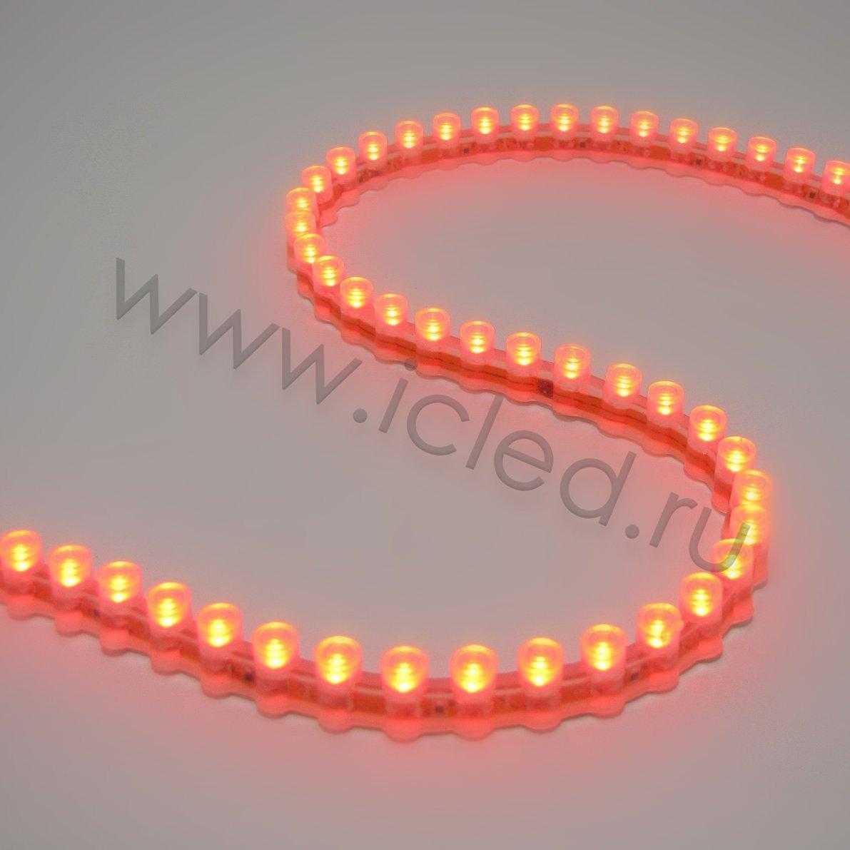 Светодиодная лента PVC Class B, 96led/m, Red, 12V, IP65