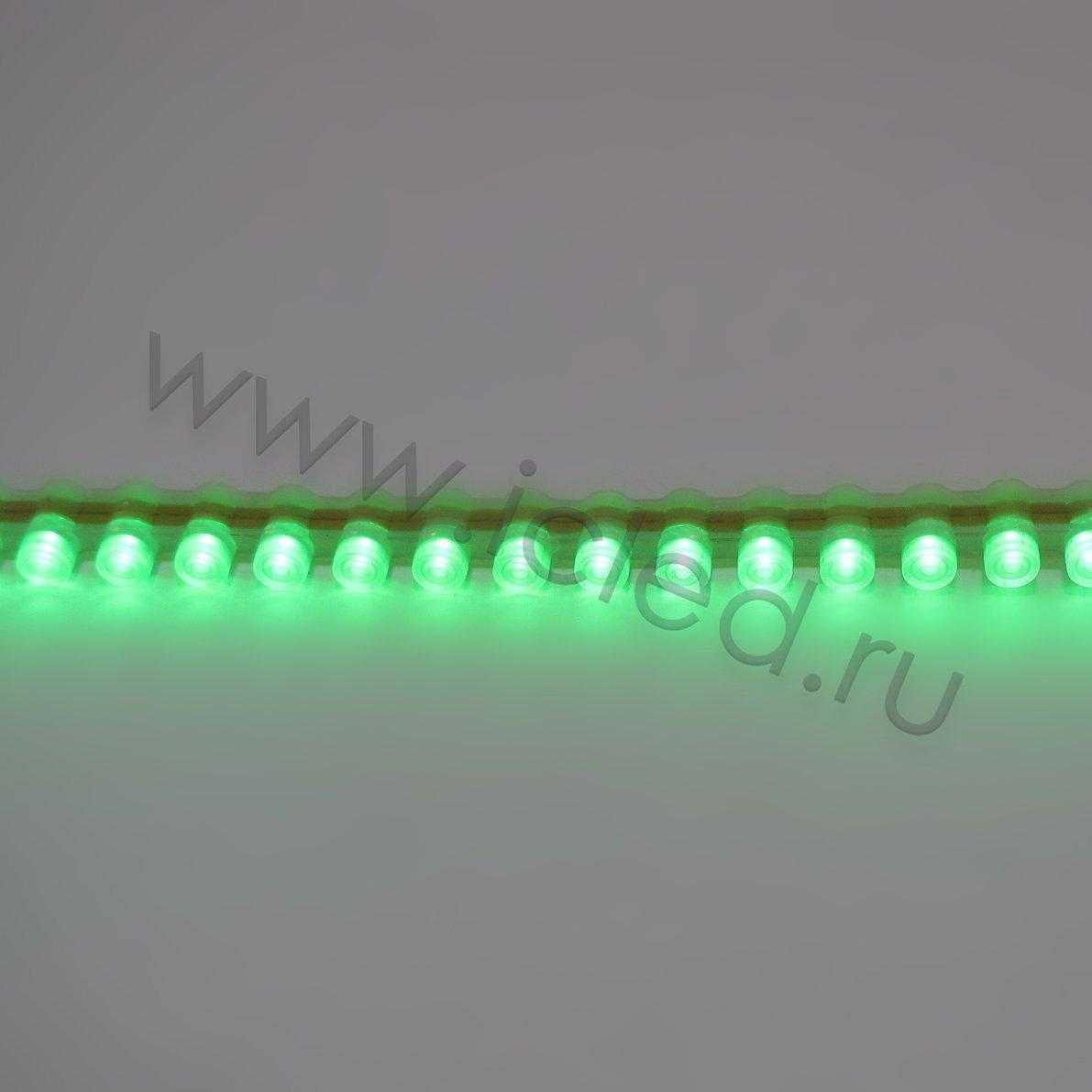 Светодиодная лента PVC Class B, 96led/m, Green, 12V, IP65
