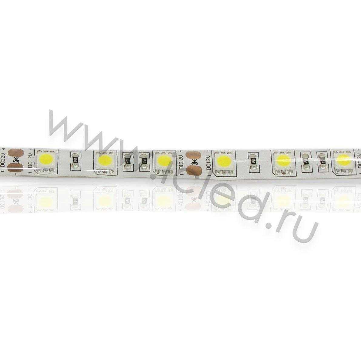 Светодиодная лента Class B, 5050, 60led/m, Warm White, 12V, IP65