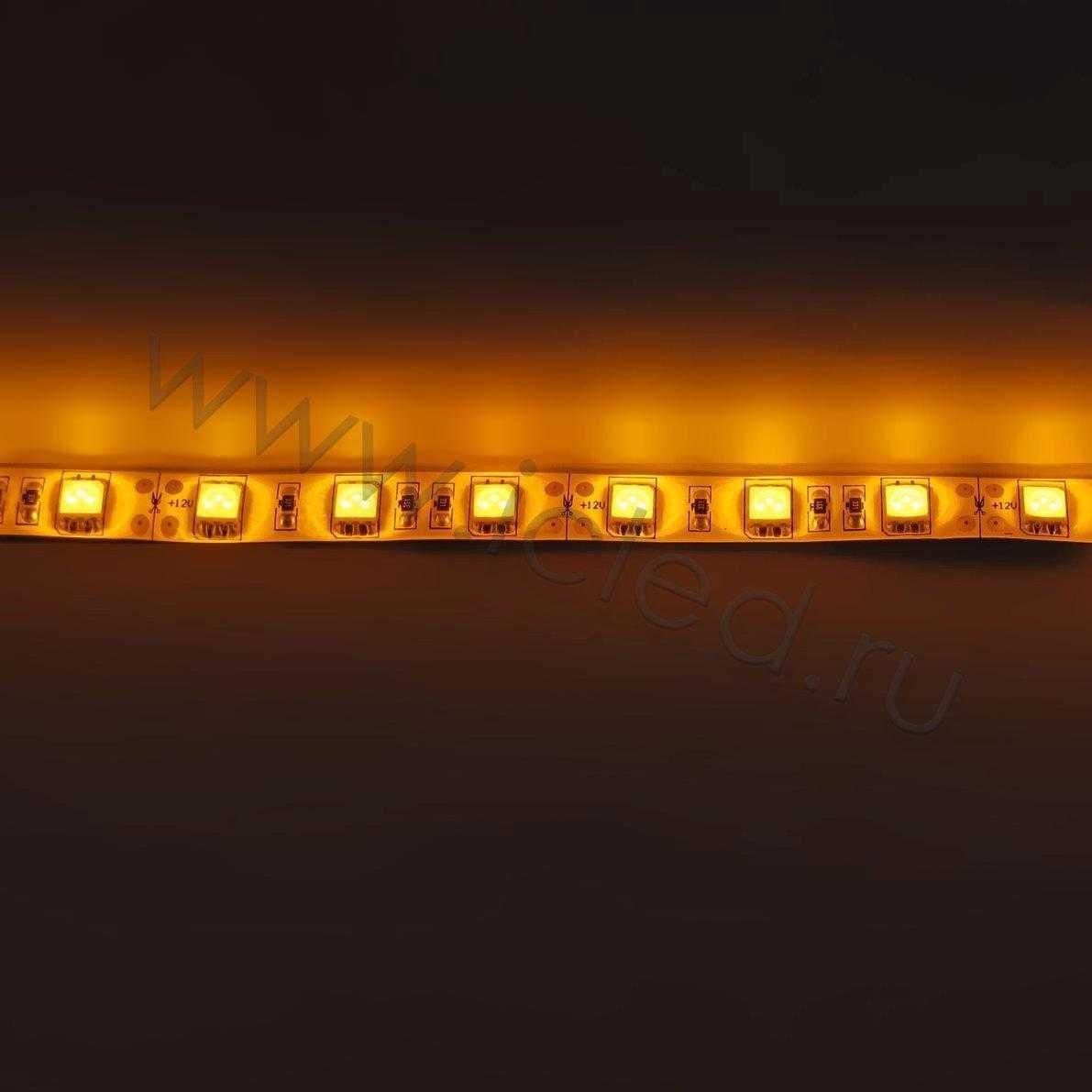 Светодиодная лента Class B, 5050, 60led/m, Yellow, 12V, IP65