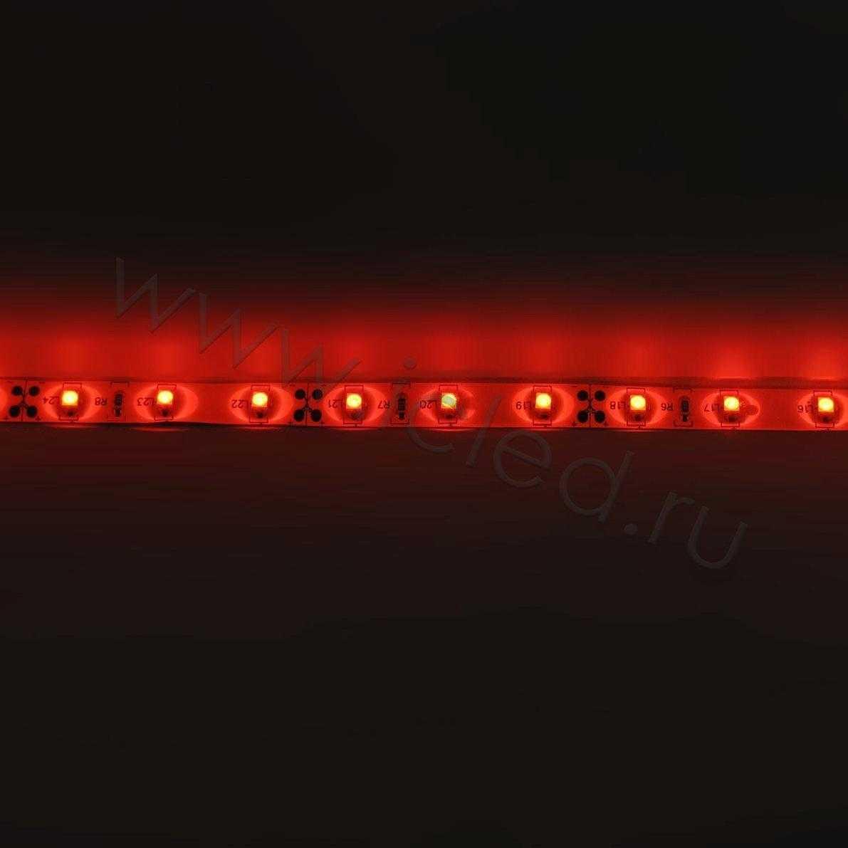Светодиодная лента Class B, 3528, 60 led/m, Red, 12V, IP65