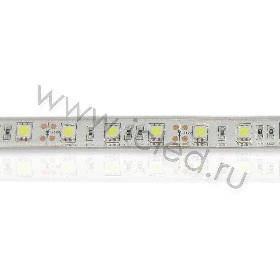 Светодиодная лента Class B, 5050, 60led/m, White, 24V, IP68
