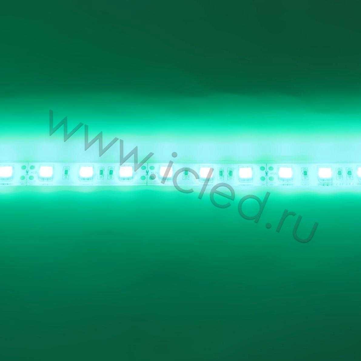 Светодиодная лента Class B, 5050, 60led/m, Green, 12V, IP68