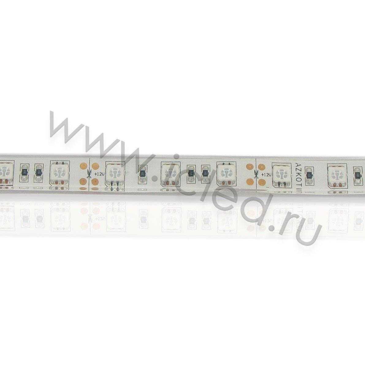 Светодиодная лента Class B, 5050, 60led/m, Yellow, 12V, IP68