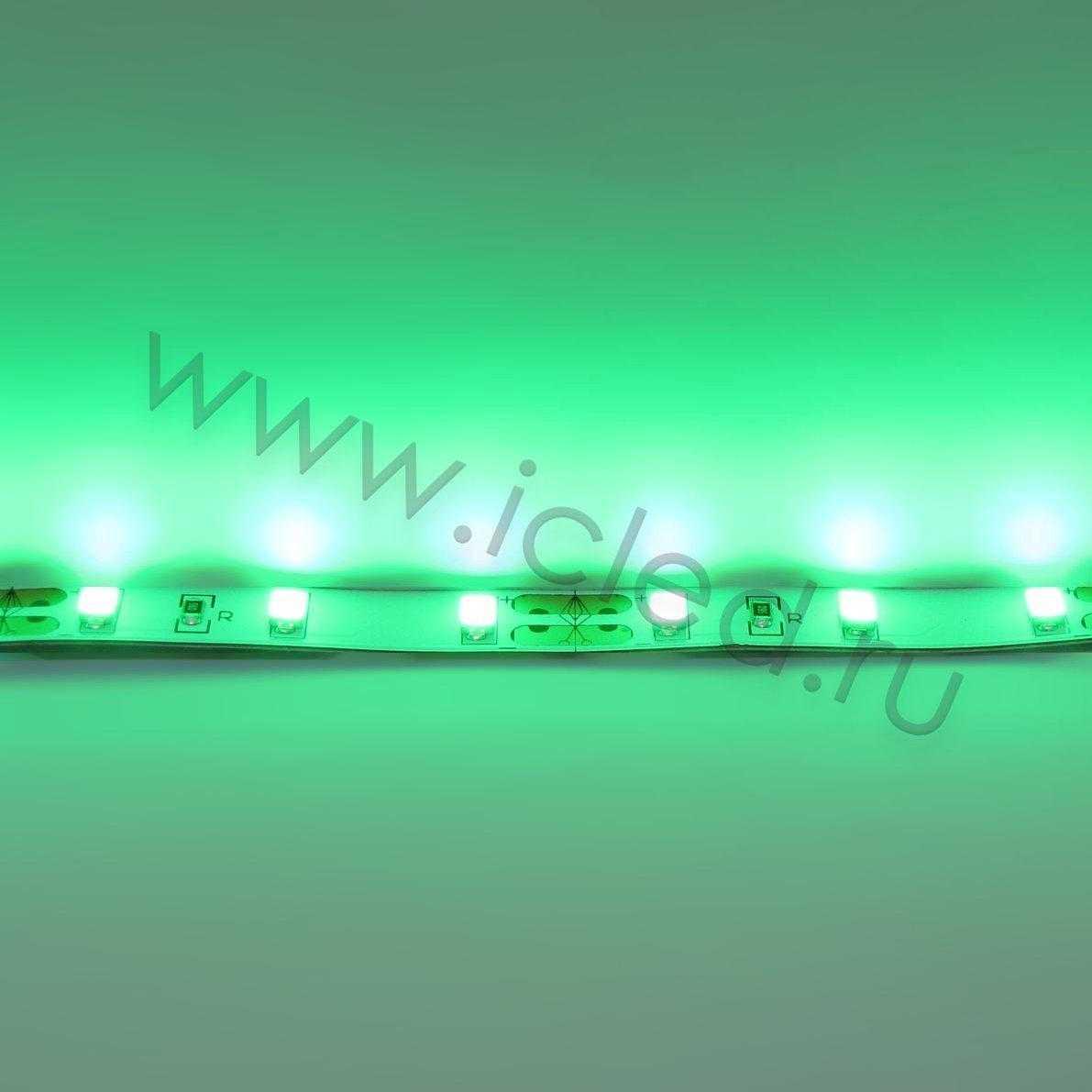 Светодиодная лента Class B, 5730, 60led/m, Green,12V, IP33
