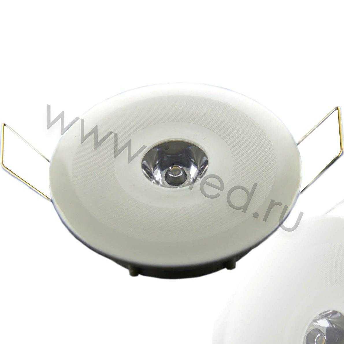 Светодиодный светильник точечный RW (1W, Warm White)