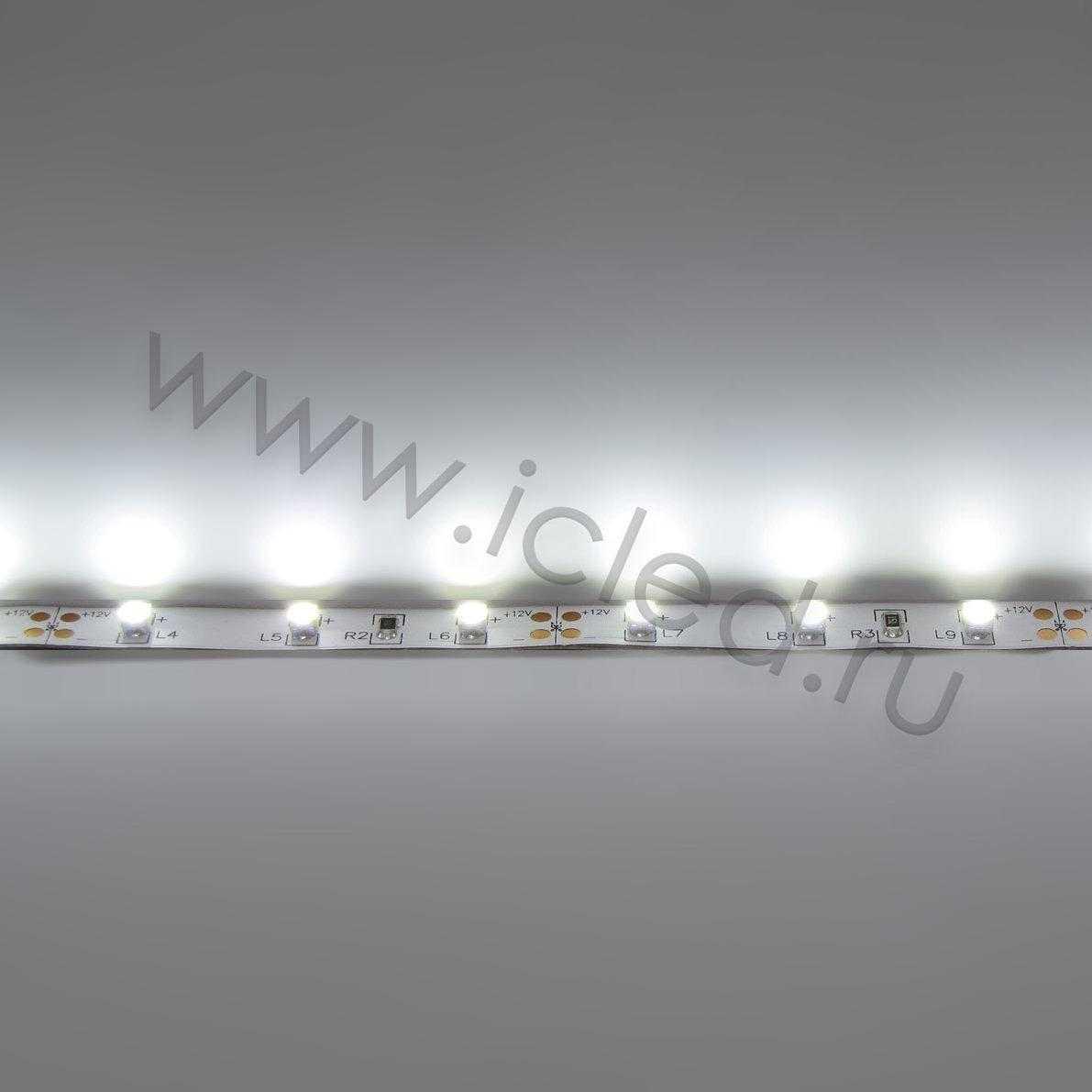 Светодиодная лента Class A, 3528, 60led/m, White, 12V, IP33