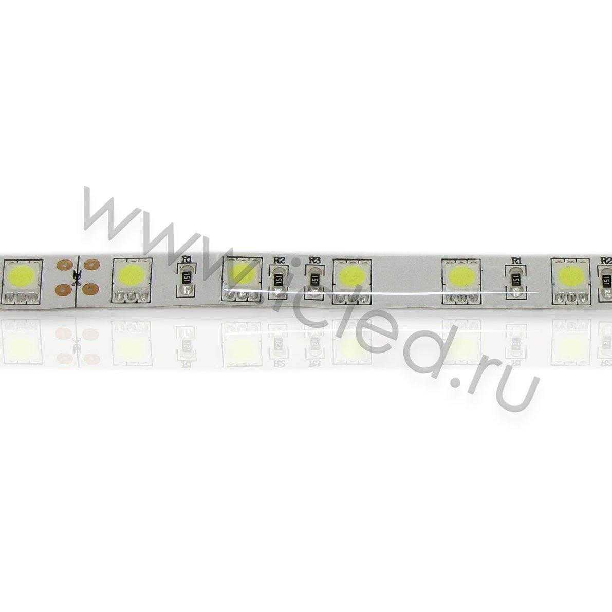 Светодиодная лента Class B, 5050, 60led/m, White, 24V, IP65