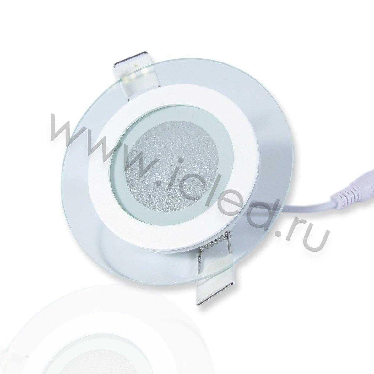 Светодиодный светильник потолочный IC-RW D100 (6W, Warm White)