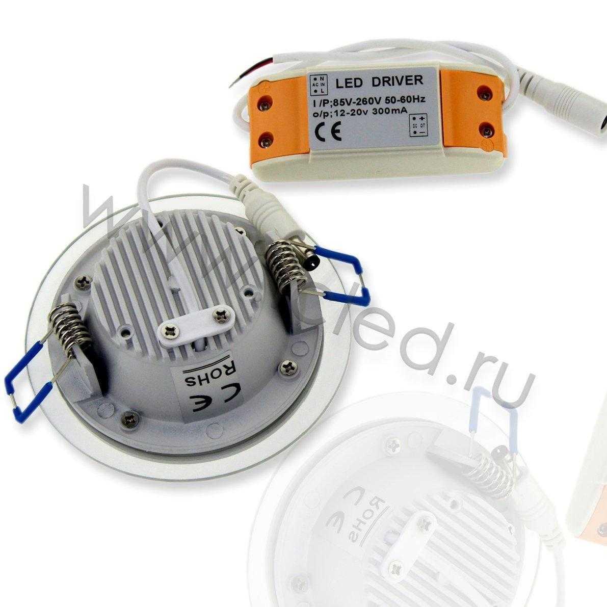 Светодиодный светильник потолочный IC-RW D100 (6W, White)