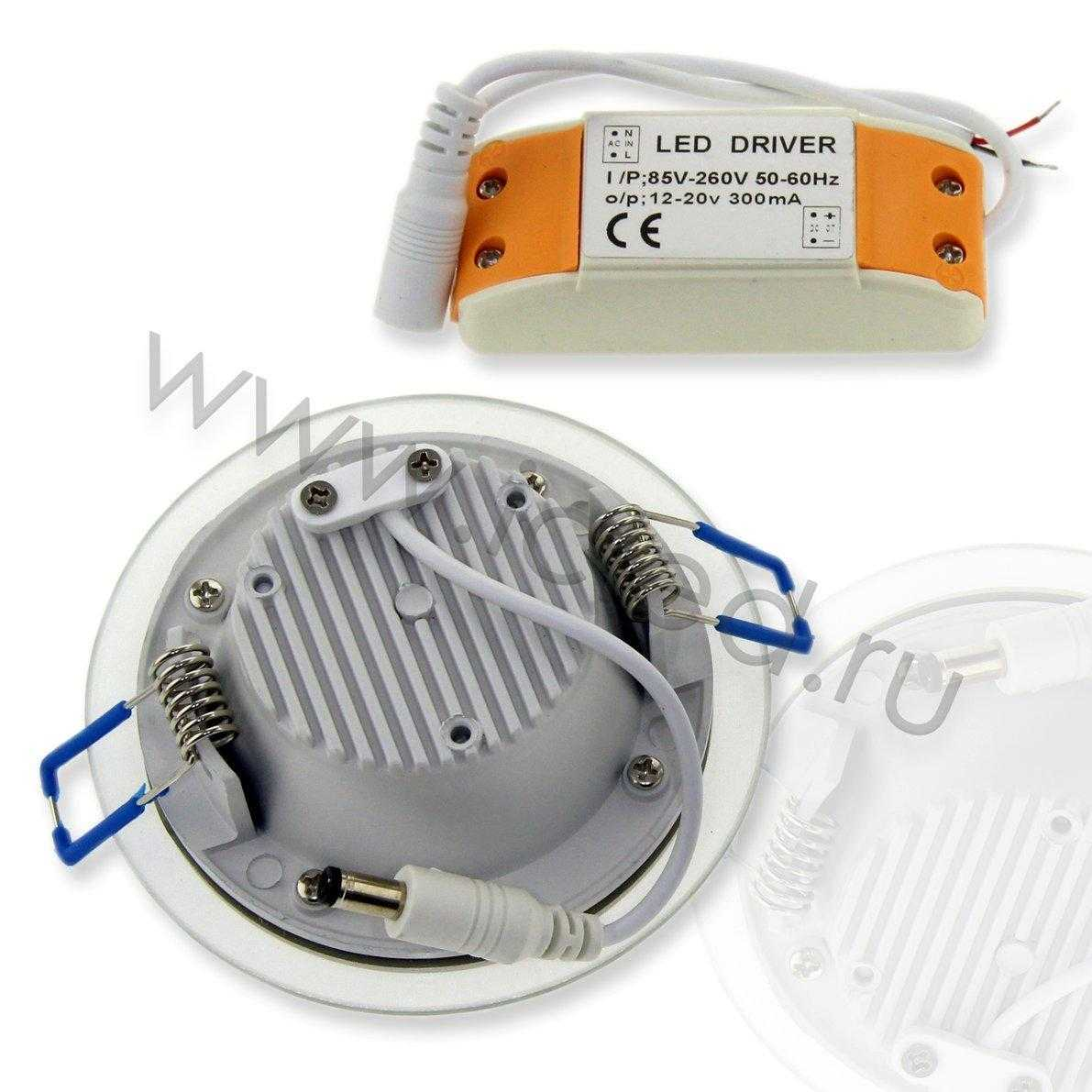 Светодиодный светильник потолочный IC-RS D100 (6W, White)