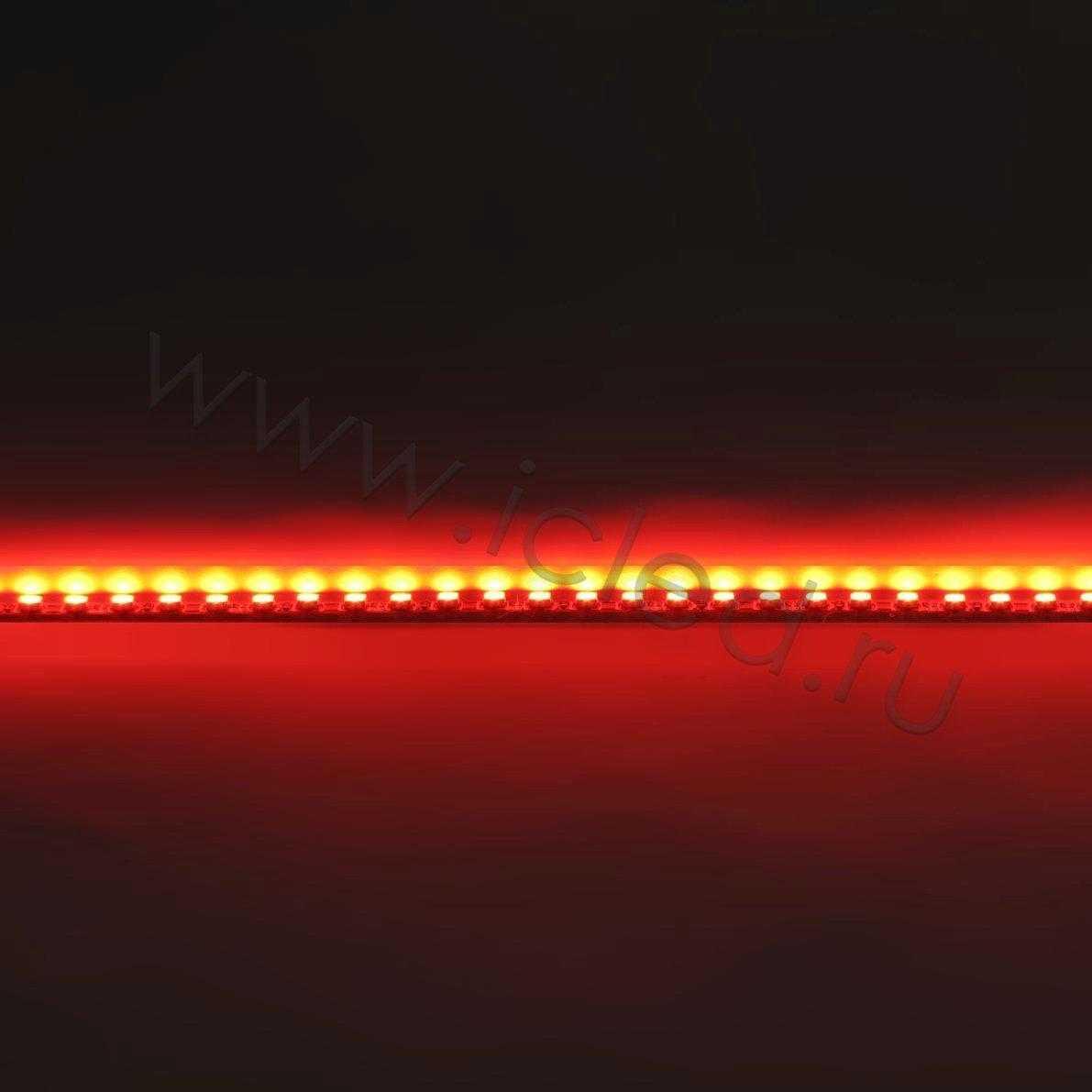 Светодиодная линейка для LCD, 3020, 48led, Red, 12V, IP33