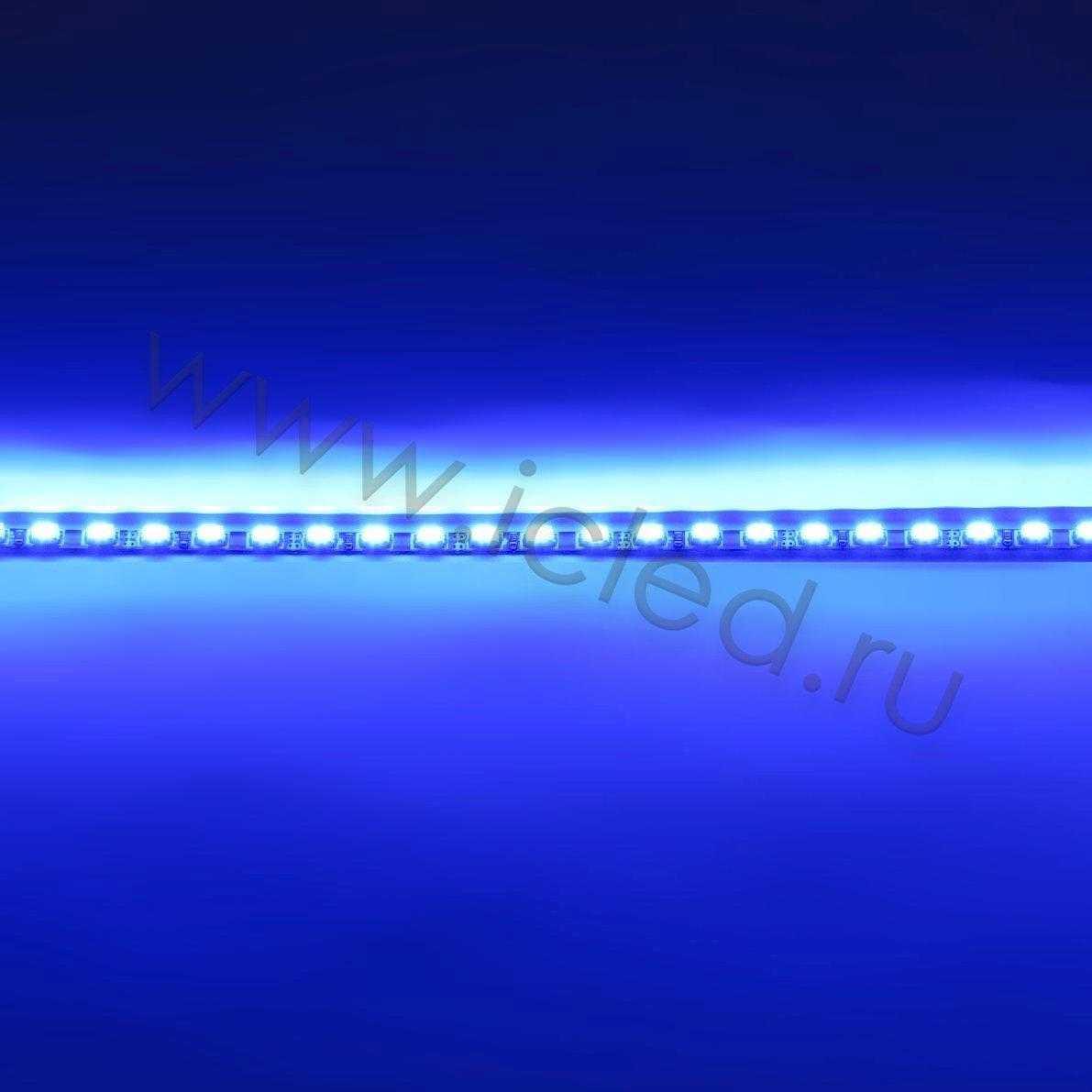 Светодиодная линейка для LCD, 3020, 48led, Blue, 12V, IP33
