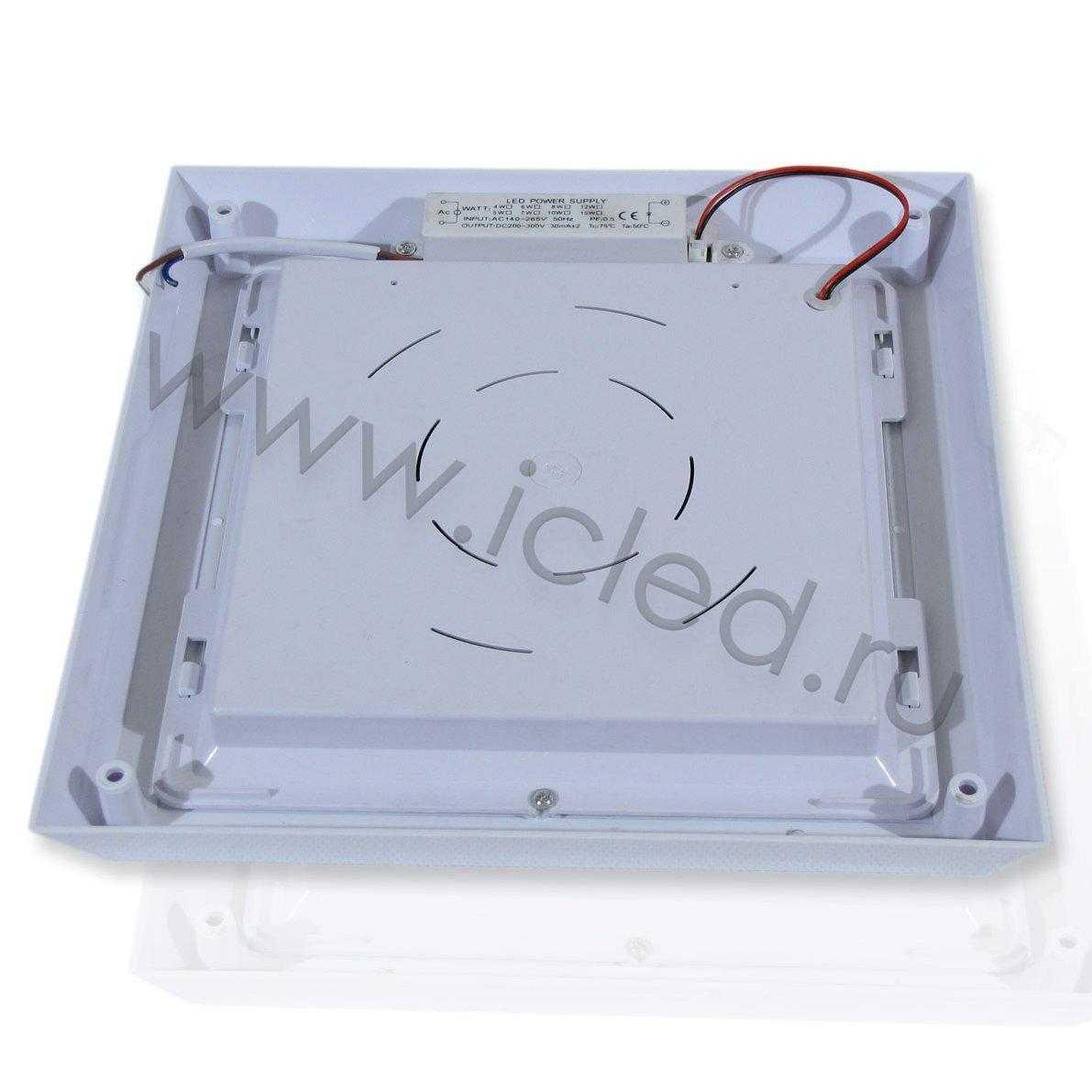 Накладной светодиодный светильник S (8W, Warm White)