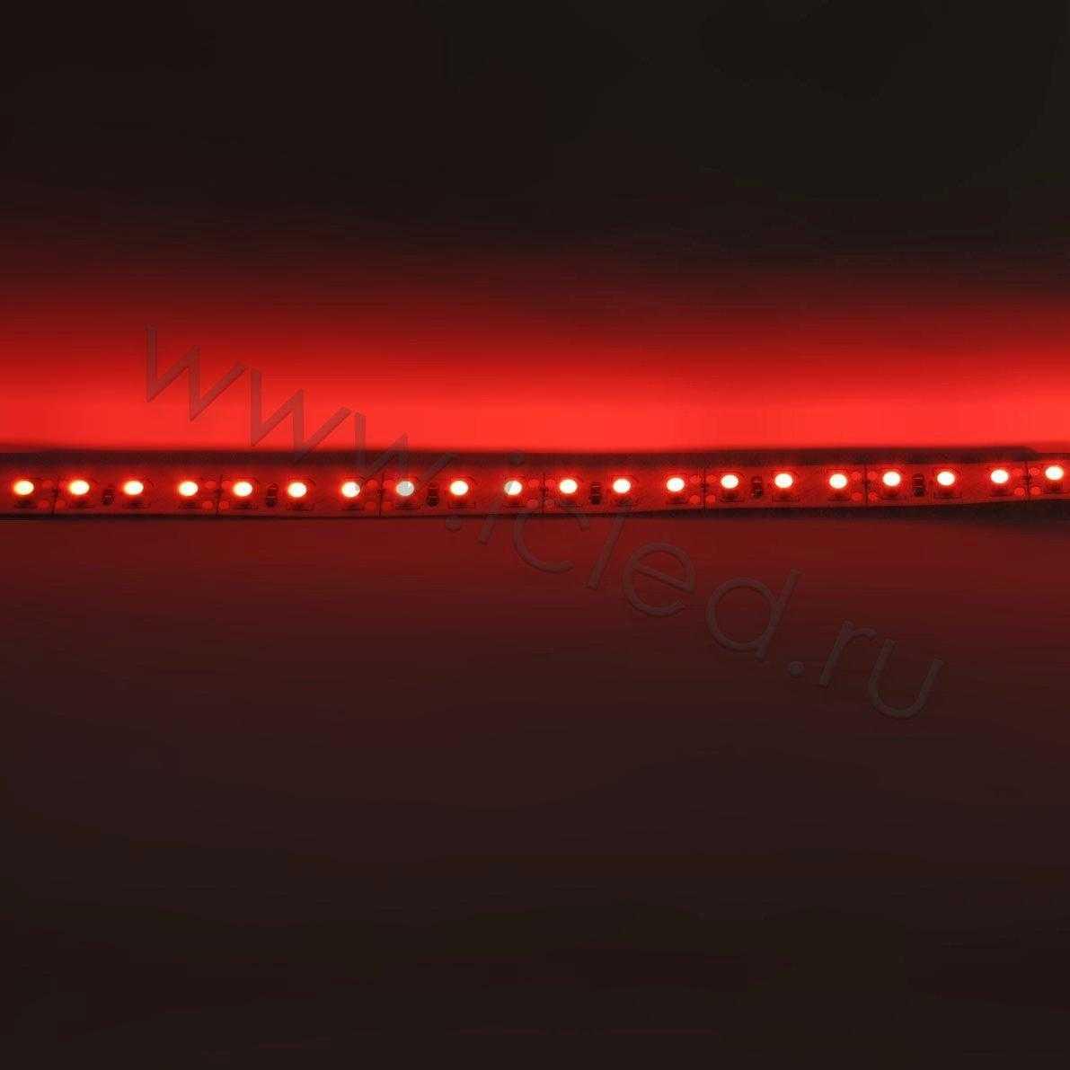 Светодиодная лента Econom class, 3528, 120led/m, Red, 12V, IP33
