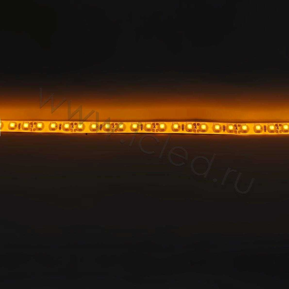 ветодиодная лента Econom class, 3528, 120led/m, Yellow, 12V, IP65