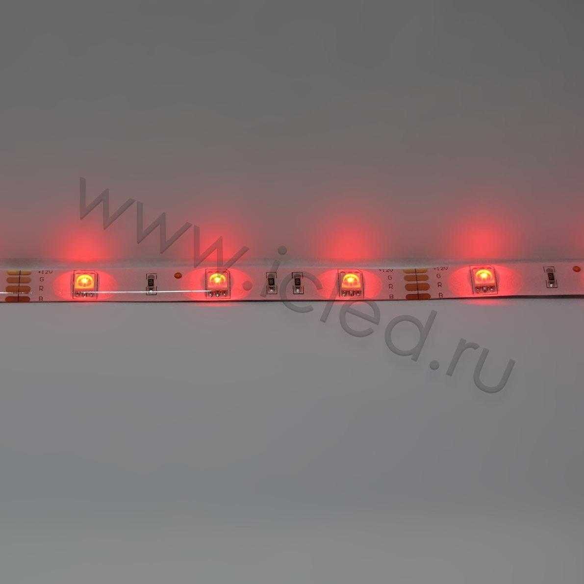 Светодиодная лента Econom class, 5050, 30led/m, RGB, 12V, IP65