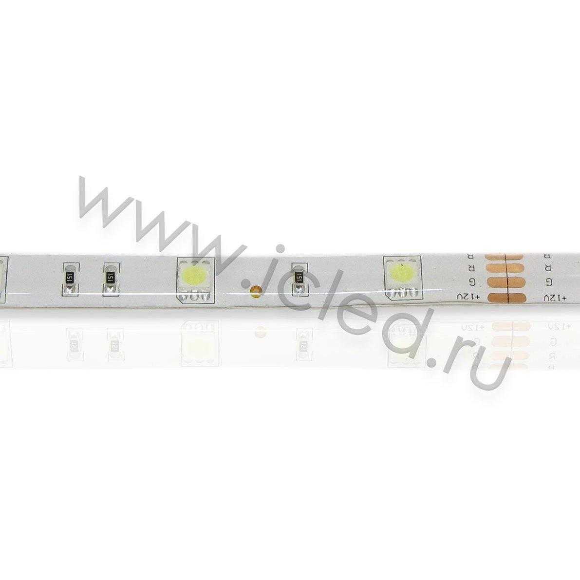 Светодиодная лента Econom class, 5050, 30led/m, White, 12V, IP65