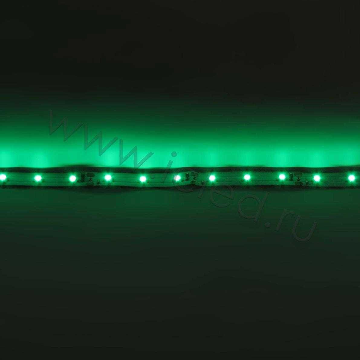 Светодиодная лента Econom class, 3528, 60led/m, Green, 12V, IP33