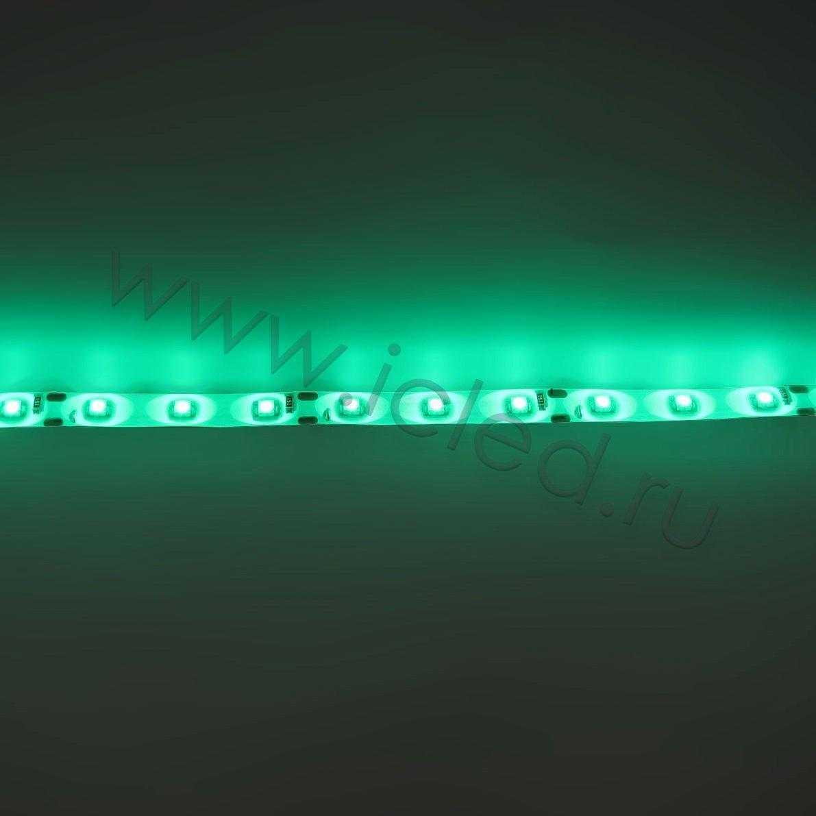 Светодиодная лента Econom class, 3528, 60led/m, Green, 12V, IP65