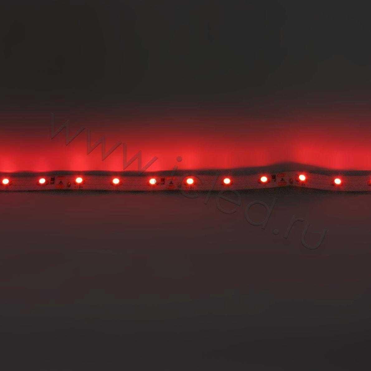 Светодиодная лента Econom class, 3528, 60led/m, Red, 12V, IP33