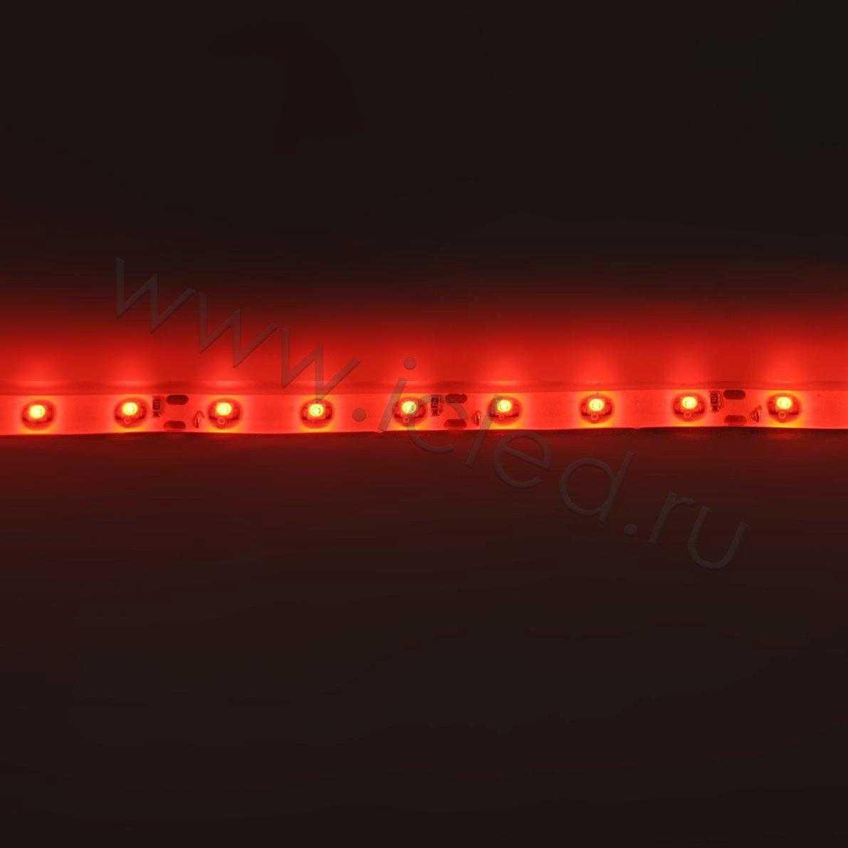 Светодиодная лента Econom class, 3528, 60led/m, Red, 12V, IP65