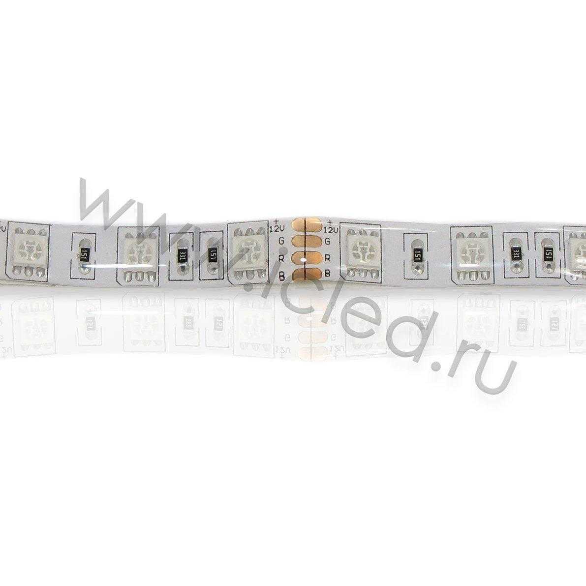 Светодиодная лента Econom class, 5050, 60led/m, RGB, 12V, IP65