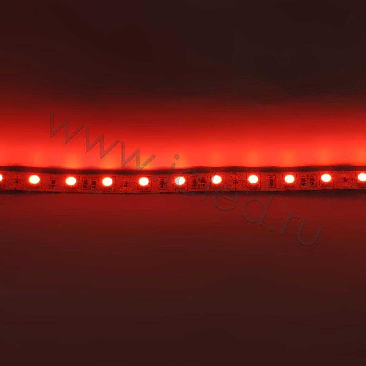 Светодиодная лента Econom class, 5050, 60led/m, Red, 12V, IP33