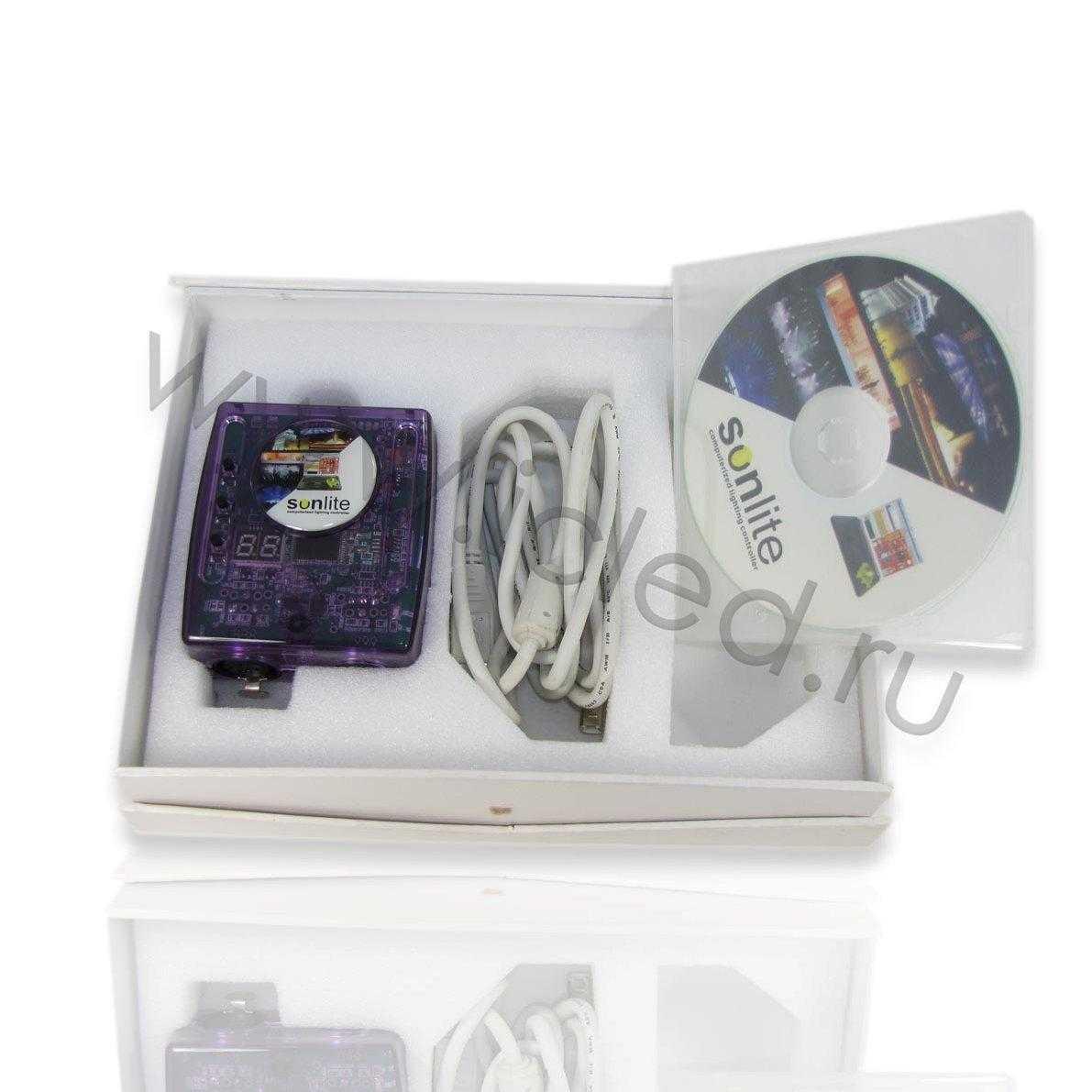 Контроллер USB DC9-12V, PC DMX Control