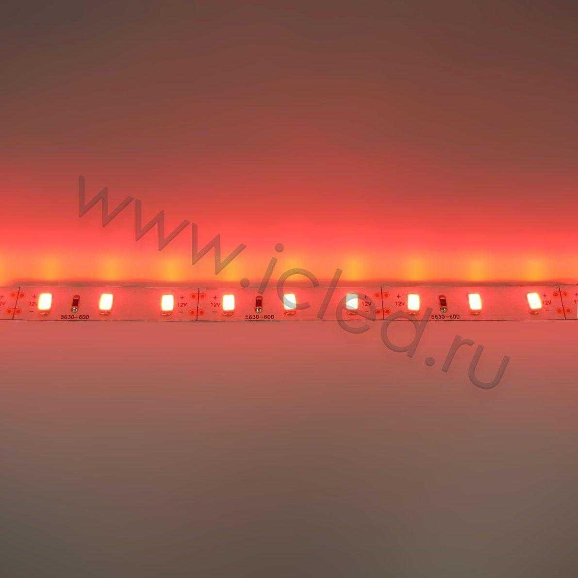 Светодиодная лента Class B, 5630, 60led/m, Red,12V, IP33