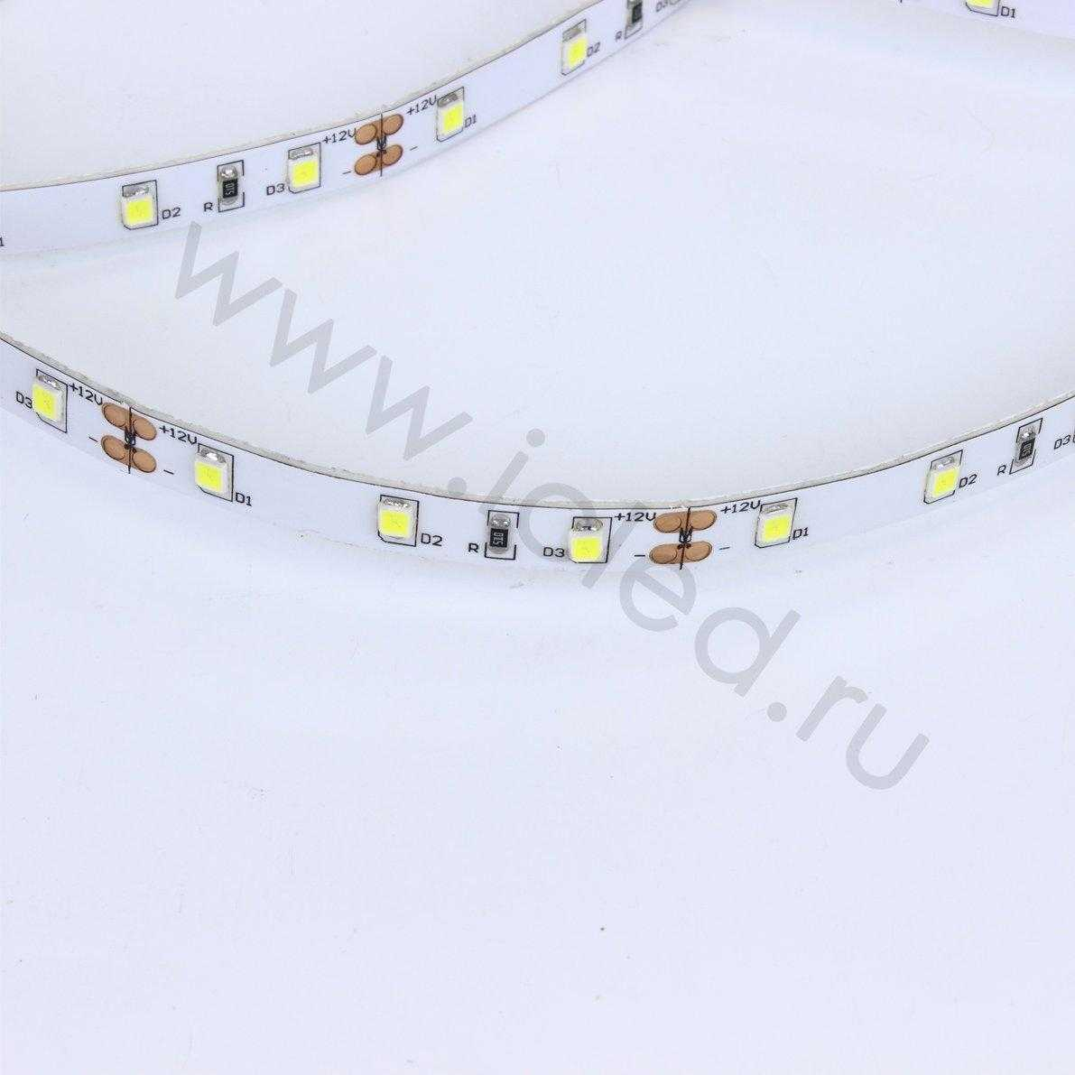 Светодиодная лента LUX class 2835 60led/m, cool white, 12V, nano IP54, N52
